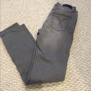 Calvin Klein ultimate skinny gray jeans
